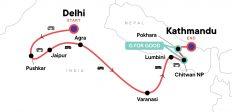 Delhi to Kathmandu: Mountain Scenes & the Ganges